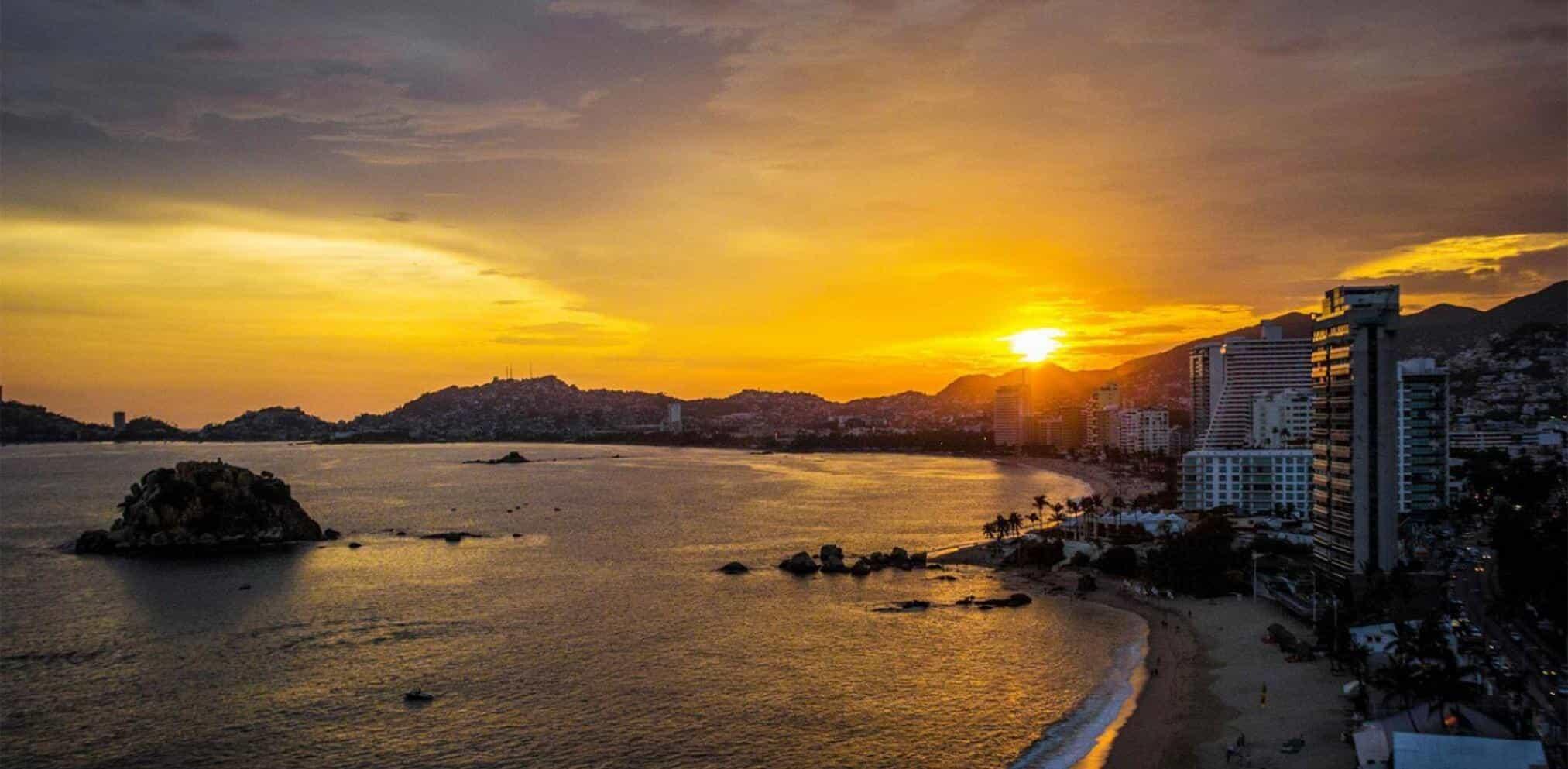 Sunset in Acapulco.