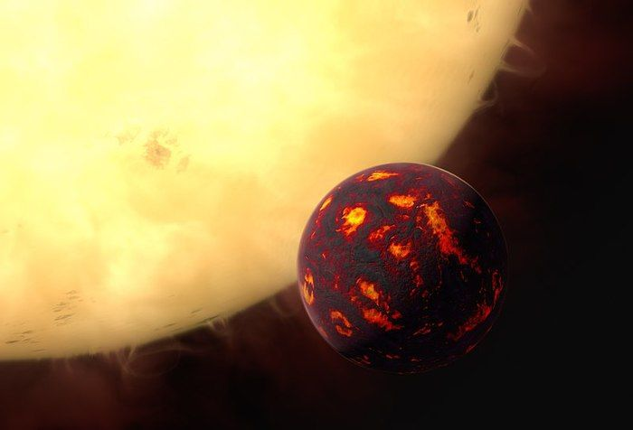 Artist's impression of 55 Cancri e.