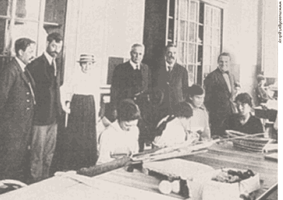 Figari with his son Carlos (first from right to left).