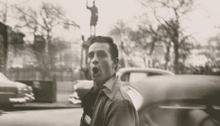 Jack Kerouac in a photo of Allen Ginsberg.