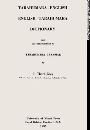 Tarahumara-English Dictionary