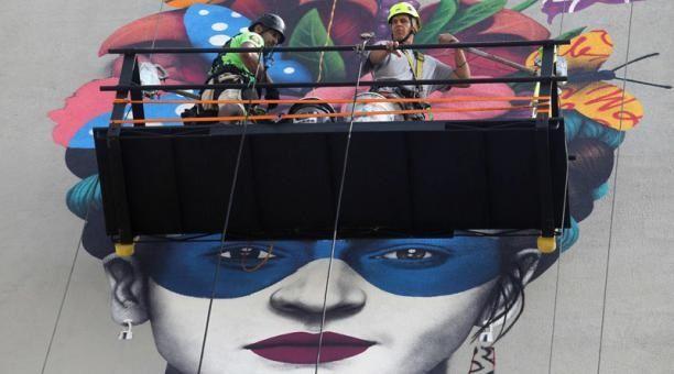 Frida Kahlo mural: the work of art called Magdalena. Photo: AFP