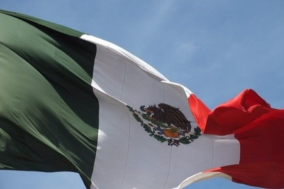 The golden eagle in the Mexican flag.