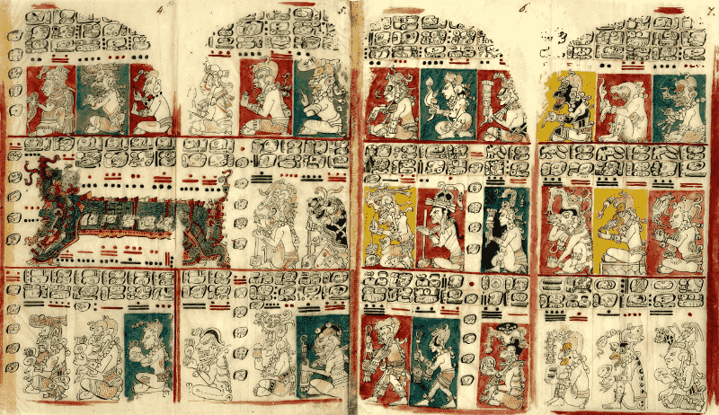 A page from the Dresden Codex.