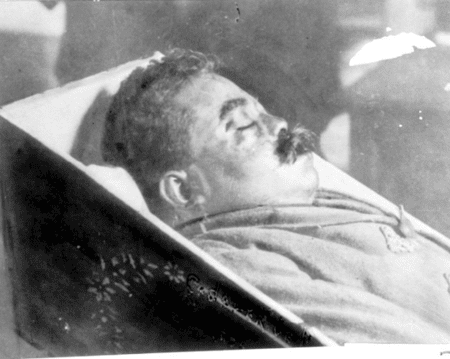 Corpse of Emiliano Zapata.