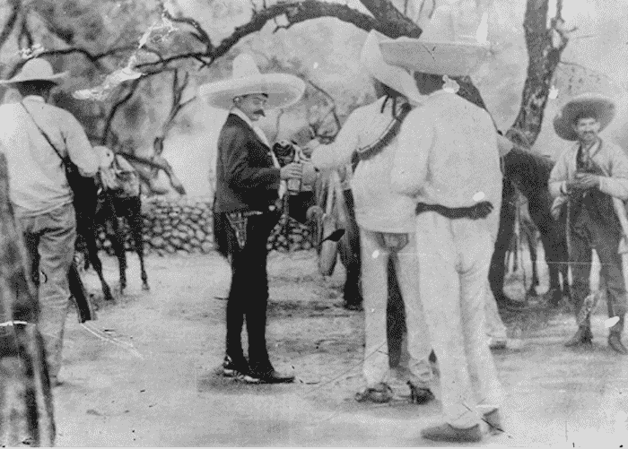 Emiliano Zapata, in one of his camps in the state of Morelos.
