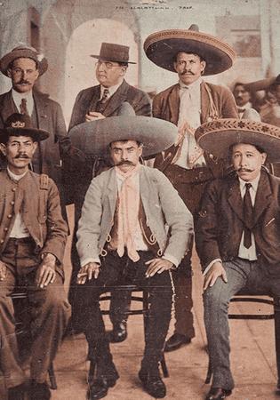 Emiliano Zapata and Zapatistas.