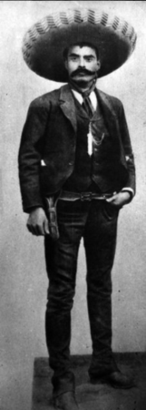 Emiliano Zapata, emblem of the Zapatista Army of National Liberation.
