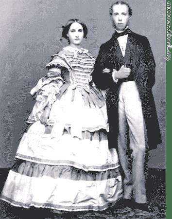 Maximilian of Habsburg and Charlotte of Belgium.