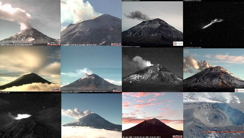 Various investigations focus on the internal structure of Popocatepetl.