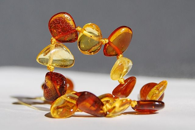Amber jewelry.